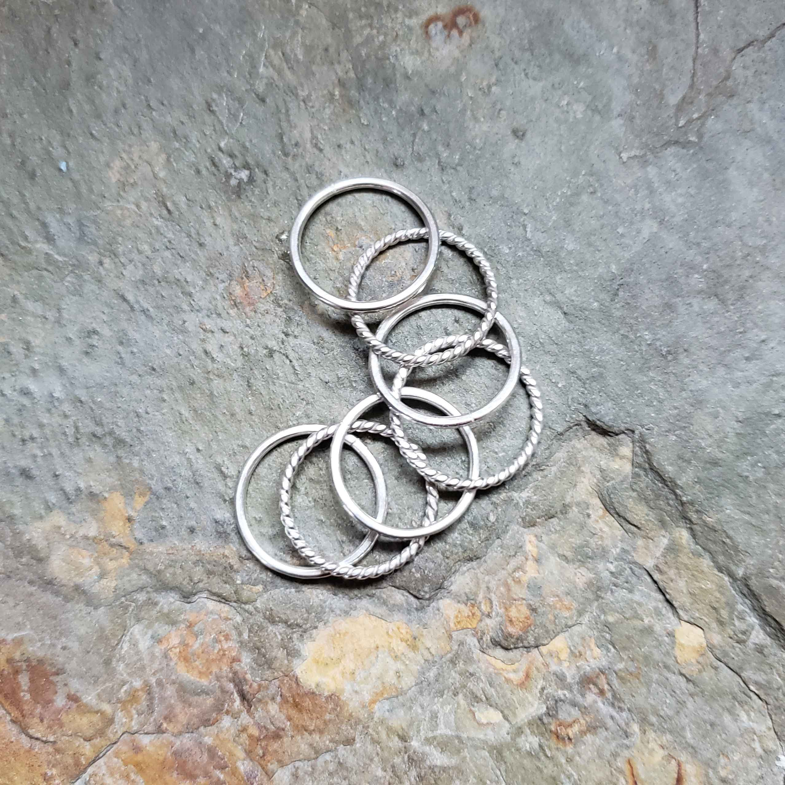 silver stack ring class samples